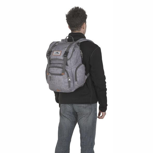 High Sierra Emmett 2 Backpack in the color Woolly Weave/Slate/Lime.