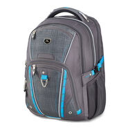 High Sierra Vuna TSA Business Backpack in the color Mercury/Burlap/Pool.