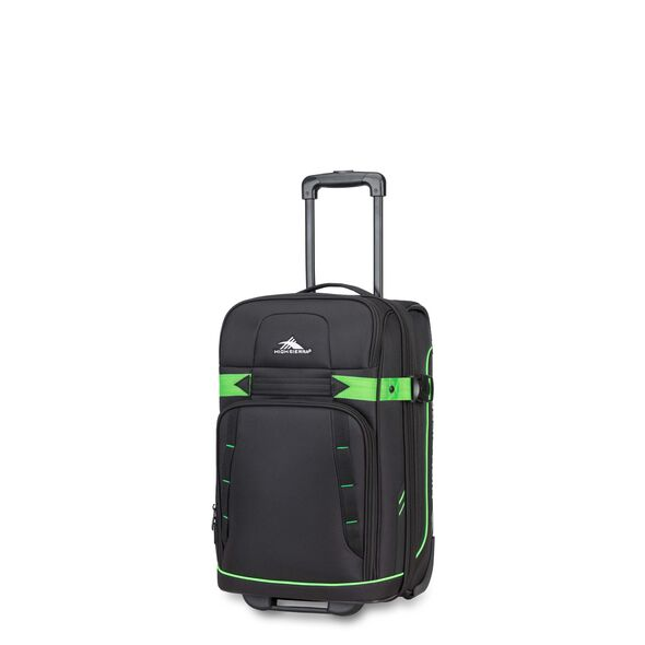 High Sierra Evanston Carry-On Upright in the color Black/Lime Green.