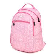 High Sierra Curve Backpack in the color Block Print/ Pink Lemonade.