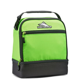 High Sierra Stacked Compartment Lunch Bag in the color Lime/Mercury.