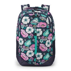 Swerve Pro Backpack in the color Floral Indigo Blue.