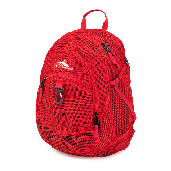 High Sierra Airhead Backpack in the color Crimson.