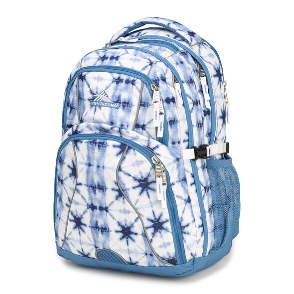 High Sierra Swerve Backpack in the color Indio Dye/Mineral/White.