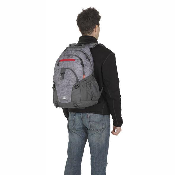 High Sierra Loop Backpack in the color Woolly Weave/Mercury/Crimson.