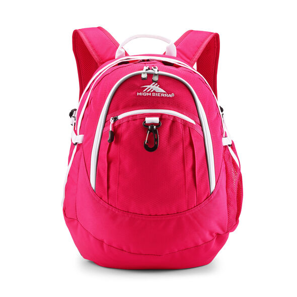 High Sierra Fatboy Backpack in the color Pink Punch/White.