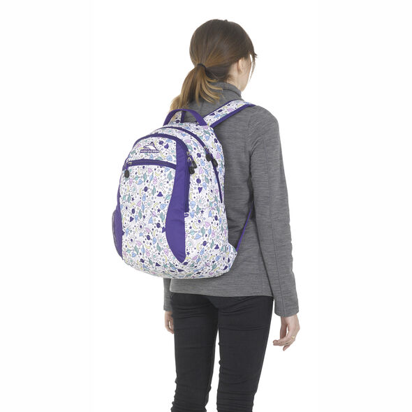 High Sierra Curve Backpack in the color Roswell UFO/ Deep Purple.