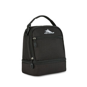 High Sierra Stacked Compartment Lunch Bag in the color Black.