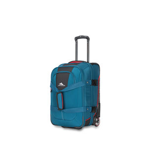 High Sierra Selway Carry-On Duffel Upright in the color Peacock/Black/Crimson.