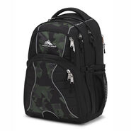 High Sierra Swerve Backpack in the color Black/Shattered Camo.