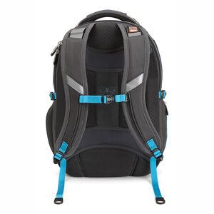 Vuna TSA Business Backpack in the color Mercury/Burlap/Pool.