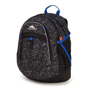 High Sierra Fat Boy Backpack in the color Speckle/Black/Vivid Blue.