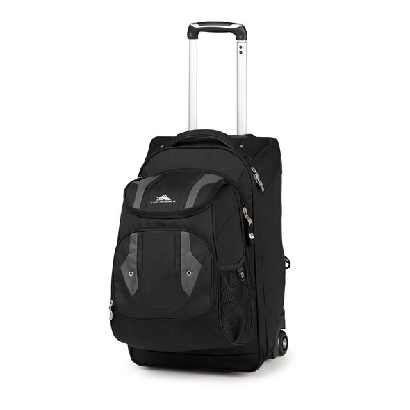 High Sierra Adventure Access Carry-On Wheeled Backpack with Removable Daypack in the color Black.