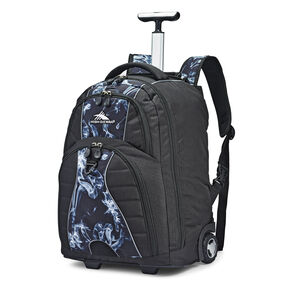 High Sierra Freewheel Wheeled Backpack in the color Black Steam/Black.