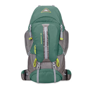 Pathway 90L Pack in the color Pine/Slate/Chartreuse.