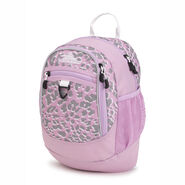 High Sierra Mini Fatboy Backpack in the color Shadow Leopard/Iced Lilac/White.