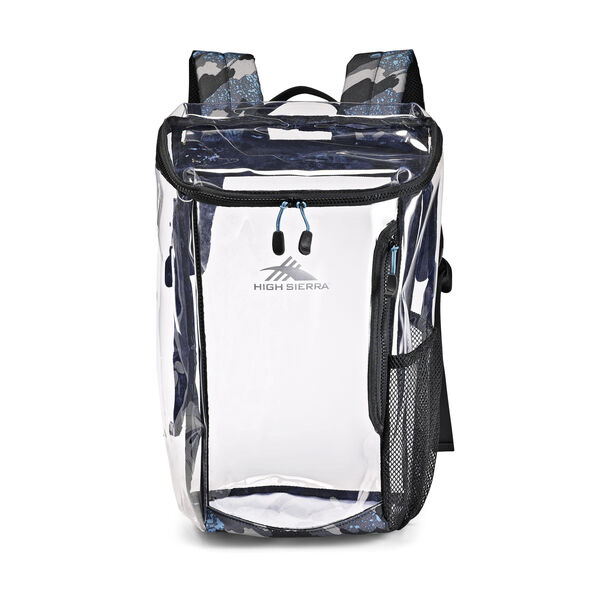 High Sierra Clear Toploader Backpack in the color Graffiti.