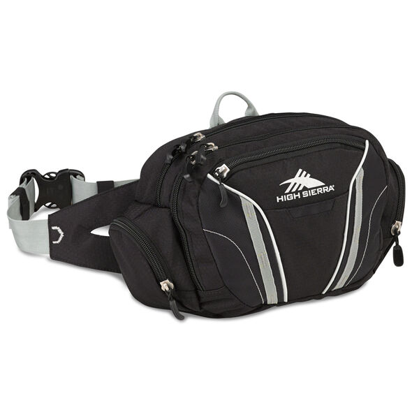 High Sierra Classic 2 Series Envoy Waistpack in the color Black/Silver.