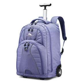High Sierra Freewheel Wheeled Backpack in the color Purple Smoke.