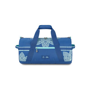 Life Is Good by High Sierra Cargo Duffel Mandala in the color Vintage Blue/Bermuda Blue Mandala.