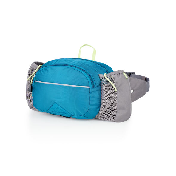 High Sierra HydraHike Waist Pack With Bottles in the color Lagoon/Slate/Zest.