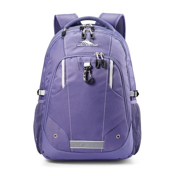 High Sierra Zestar Backpack in the color Purple Smoke.