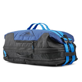 High Sierra Dells Canyon Convertible Duffel Backpack in the color True Navy/Black/Sports Blue.