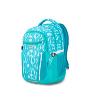 High Sierra Larrabee Backpack in the color Tropic Ikat/Turquoise/White.