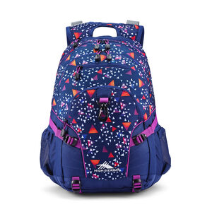 Loop Backpack in the color Triangle Party/True Navy/Hyacinth.