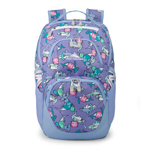 Swoop SG Backpack in the color Purple Sharks.