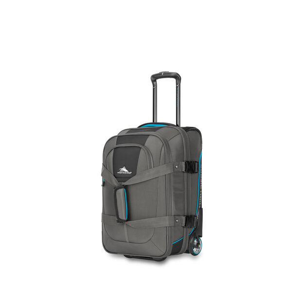 High Sierra Selway Carry-On Duffel Upright in the color Mercury/Black/Pool.