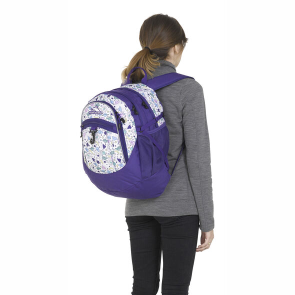 High Sierra Fatboy Backpack in the color Roswell UFO/ Deep Purple.