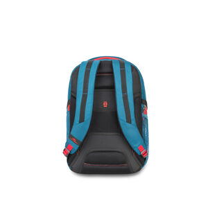 Selway Computer Backpack in the color Peacock/Black/Crimson.