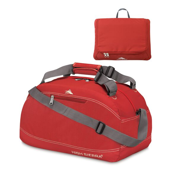 "High Sierra 24"" Pack-N-Go Duffel in the color Carmine Red."