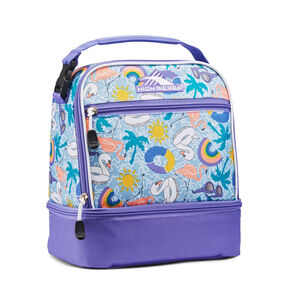 High Sierra Stacked Compartment Lunch Bag in the color Pool Party/Lavender/White.