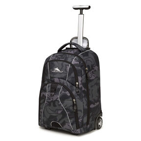 High Sierra Freewheel Wheeled Backpack in the color Kamo/Black.