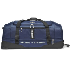 "High Sierra Pathway 36"" Wheeled Drop-Bottom Duffel in the color Maritime/Black/Ash."
