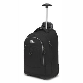 High Sierra Chaser Wheeled Backpack in the color Black.