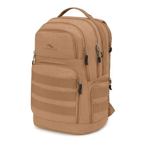 High Sierra Rownan Backpack in the color Tan Canvas.