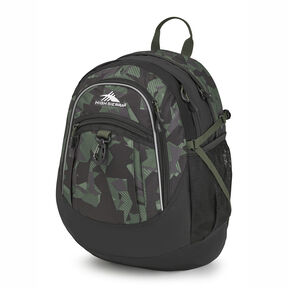 High Sierra Fatboy Backpack in the color Shattered Camo/Black/Olive.