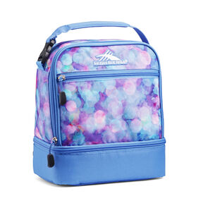 High Sierra Stacked Compartment Lunch Bag in the color Shine Blue/Lapis.