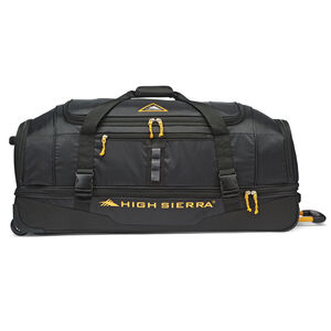 """Pathway 36"""" Wheeled Drop-Bottom Duffel in the color Black/Gold."""