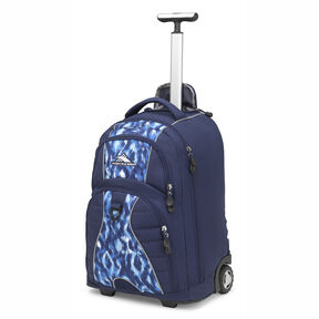 High Sierra Freewheel Wheeled Backpack in the color Island Ikat/True Navy.