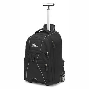 High Sierra Freewheel Wheeled Backpack in the color Black/Black.