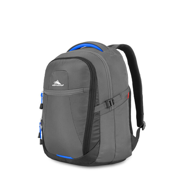 High Sierra Decatur Computer Backpack in the color Mercury/Vivid Blue.