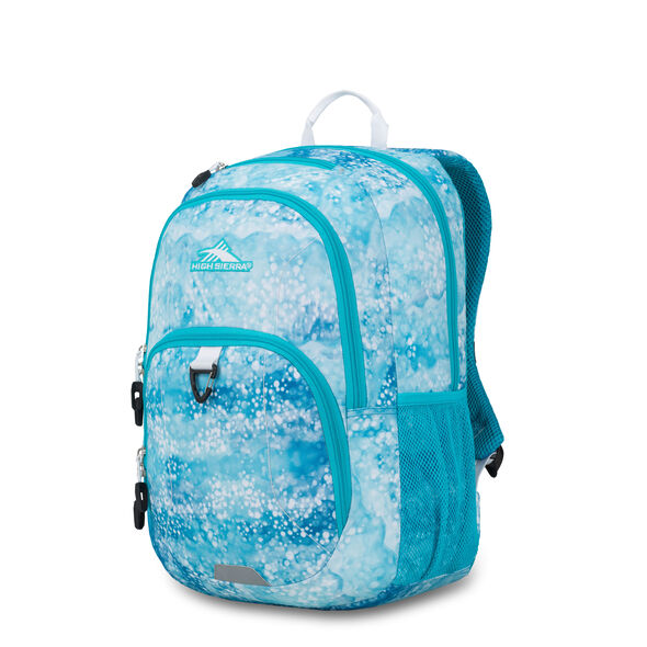 High Sierra Sumner Backpack in the color Ocean Fizz/Tropic Teal/White.