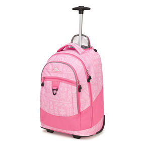 High Sierra Chaser Wheeled Backpack In The Color Block Print Pink Lemonade