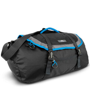 High Sierra Pack-N-Go 2 40L Sport Duffel in the color Black/Charcoal/Pool.