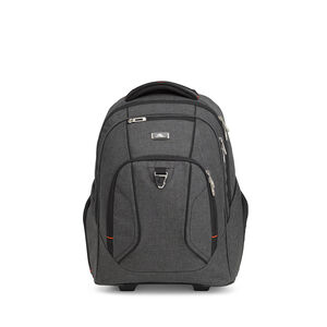 Endeavor Wheeled Backpack in the color Mercury Heather.