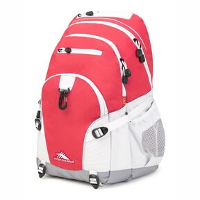 High Sierra Loop Backpack in the color Paradise Pink/White/Ash.
